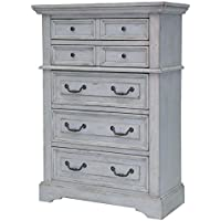American Woodcrafters Stonebrook Chest, Antique Grey