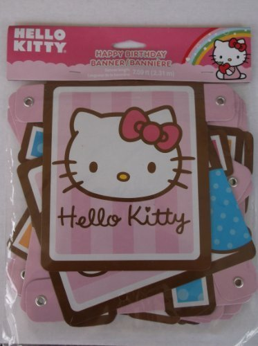Hello Kitty Birthday Banner 7.59 Ft for $<!--$5.41-->