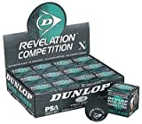 Dunlop Competition - Single Yellow Dot Squash Balls (One dozen)