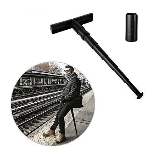 Xiaolanwelc Queuing Artifact Sitback Folding Stool Outdoor Subway Portable Telescopic Chair Foldable Retractable Carry Stool