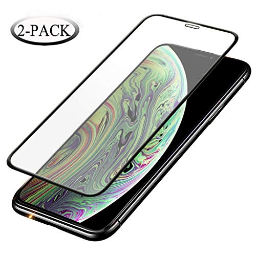iPhone X/XS Screen Protector,Anti-Scratch,Case Friendly,3D Touch,0.3mm Thin 9H Hardness Tempered Glass Screen Protector Compatible for iPhone X/XS [2-Pack]