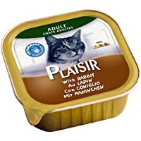 PLAISIR Cats Pate Rich in Rabbit Alu-Tray 100g, green, 05221