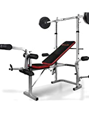Everfit Muti-station Weight Bench Adjustable Fitness 180KG Weight Capacity Home Gym Equipment Training Flat Incline Bench Press Leg Curl Chest Flys Extensions Military Press