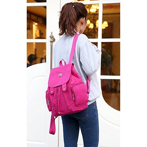 Mochilas Moda Escolares Sport Rojo Cuerdas Bag Bolsas Bolso Viaje Backpack Outreo Mujer Escuela Para De Bolsos Ligero Libro Impermeable wdFRfq4