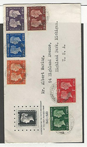 Great Britain, Postage Stamp, 252-257 First Day Cover To Highland Park, MI