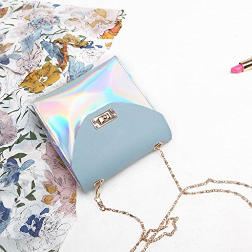 Bag Phone Coin Gifts Womens Blue Laser Small Bags SHOBDW Fashion Birthday Party Women Wallet Shoulder Chain Messenger Crossbody wP7w6