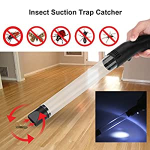Pest Insect Suction Trap Catcher Spider Handheld Bug Buster Multi-Functional Night Lamp Vacuum