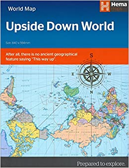 Upside down world map folded hema maps 9781925195118 amazon upside down world map folded hema maps 9781925195118 amazon books gumiabroncs Images