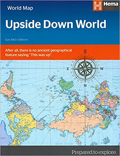 Upside down world map folded hema maps 9781925195118 amazon upside down world map folded hema maps 9781925195118 amazon books gumiabroncs Gallery