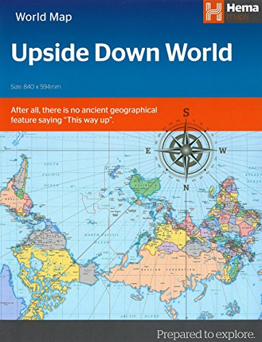 Upside Down World Map (Folded) (Upside World Down)