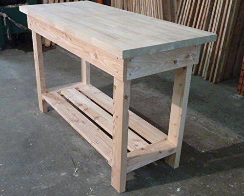 Wooden Work Bench 1.2m long 40mm Solid Beech Top