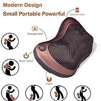 Prosmart Smart Play Car Electronic Massage Lumbar Neck Back Shoulder Heat Cushion Pillow for Relaxing (Brown)