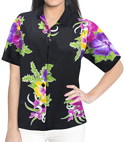 Women Shirt Top Hawaiian Beach Blouses Tank Casual Aloha Holiday Button Down
