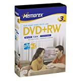 Memorex 4.7GB DVD+RW Media (3-Pack)