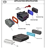 Molex 16 Pin Wire Connector, Harley Black