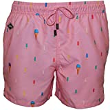 Nikben Popsicle Men's Swim Shorts, Soft Pink Small Soft Pink