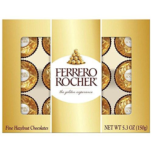 Ferrero Rocher Fine Hazelnut Chocolate 5.30 oz (Pack of 6)