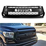 #6: Seven Sparta Front Grill for Toyota Tundra 2014-2017, Including SR, SR5, Limited, Platinum, 1794 Edition Grille Cover (Black)