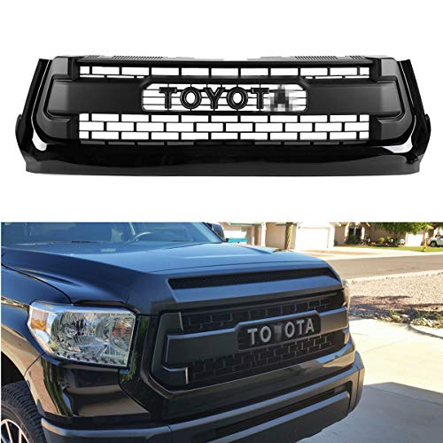 Seven Sparta Front Grill for Toyota Tundra 2014-2017, Including SR, SR5, Limited, Platinum, 1794 Edition TRD PRO Grille Cover (Toyota Tundra Sr5)