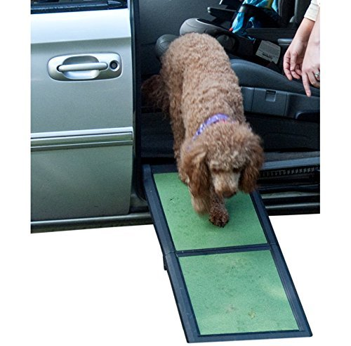Pet Gear Travel Lite Bi-Fold Half Ramp for Cats and Dogs up to 200-pounds, 42-inch, Sage by Pet Gear