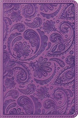 ESV Compact Bible (TruTone, Purple, Paisley Design)
