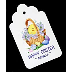 Personalized easter gift tags lets personalize that easter gift tags easter basket personalized set of 25 negle Image collections