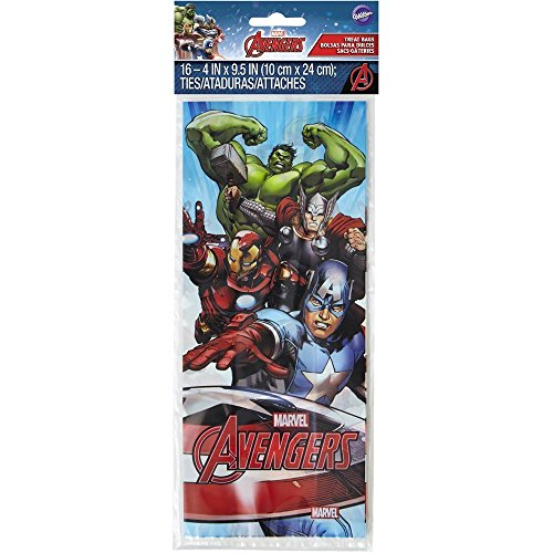 Wilton 16 Count Marvel Avengers Treat Bags, Multicolor -