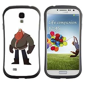 Suave TPU GEL Carcasa Funda Silicona Blando Estuche Caso de protección (para) Samsung Galaxy S4 I9500 / CECELL Phone case / / Big Man Belly Red Beard Drawing Art /