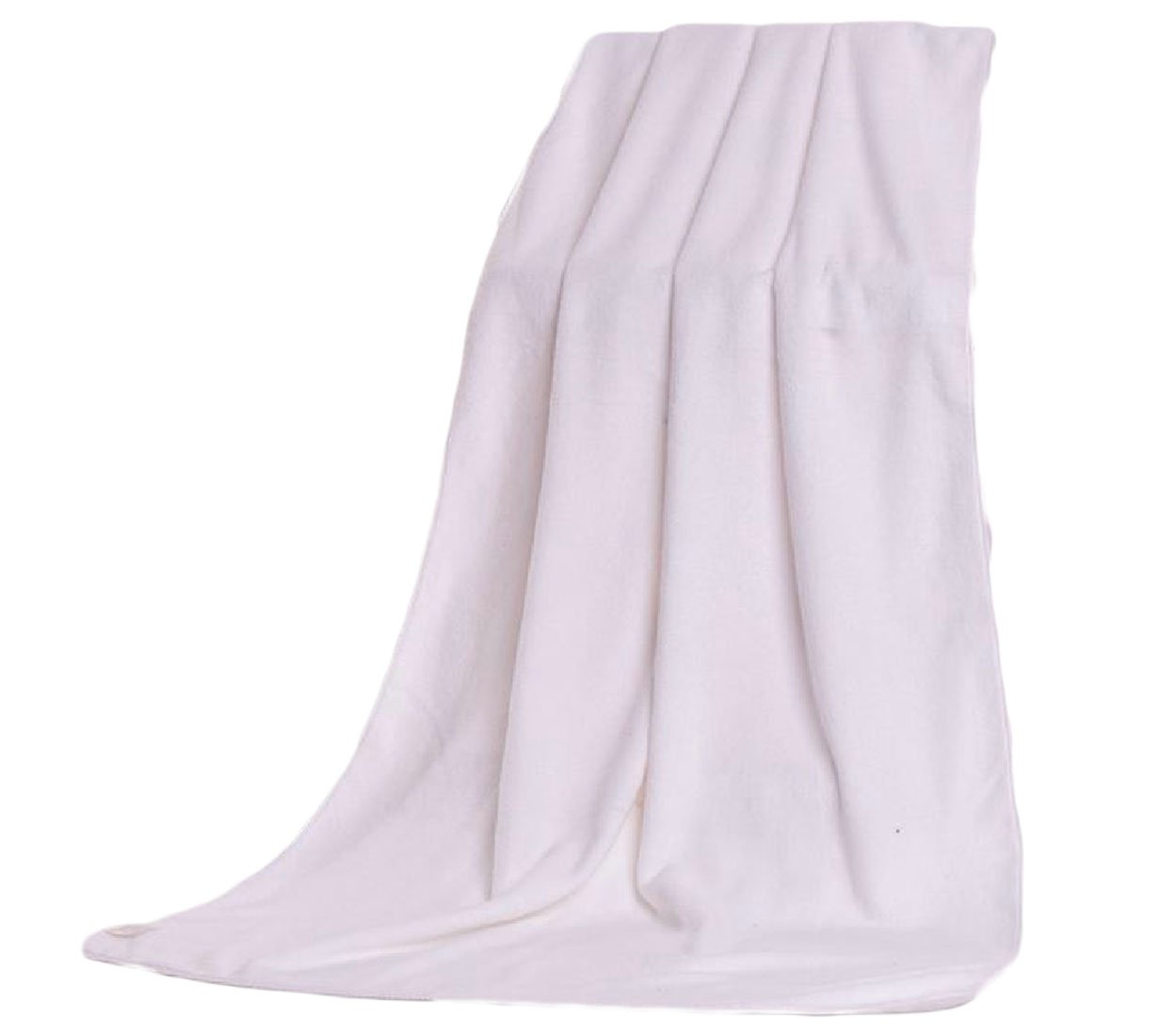XINHE Fade-Resistant Plain Everyday Ultra Absorbent Sheer Classic Machine Wash Bath Beach Spa and Fitness Towel White 80180