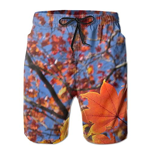 Liuxl Men's Beach Pants Shorts Maple Leaf Swimming Trunks Swimwear - Swimwear Mens Vancouver