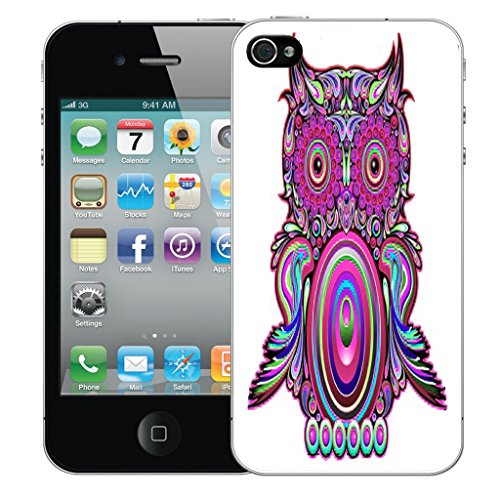 Mobile Case Mate iPhone 5c Silicone Coque couverture case cover Pare-chocs + STYLET - Clockwork Owl pattern (SILICON)