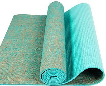 Tapis de yoga en toile de jute vert : Sports ... - Amazon.com