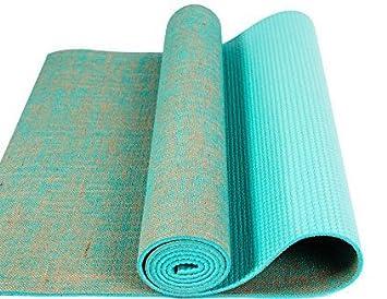 Tapis de yoga en toile de jute vert: Amazon.es: Deportes y ...
