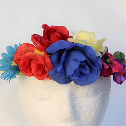 Blooms And Bugs Frida Kahlo Headband - Frida Kahlo Flower Crown - Frida Kahlo Halloween (Make Katy Perry Costumes)