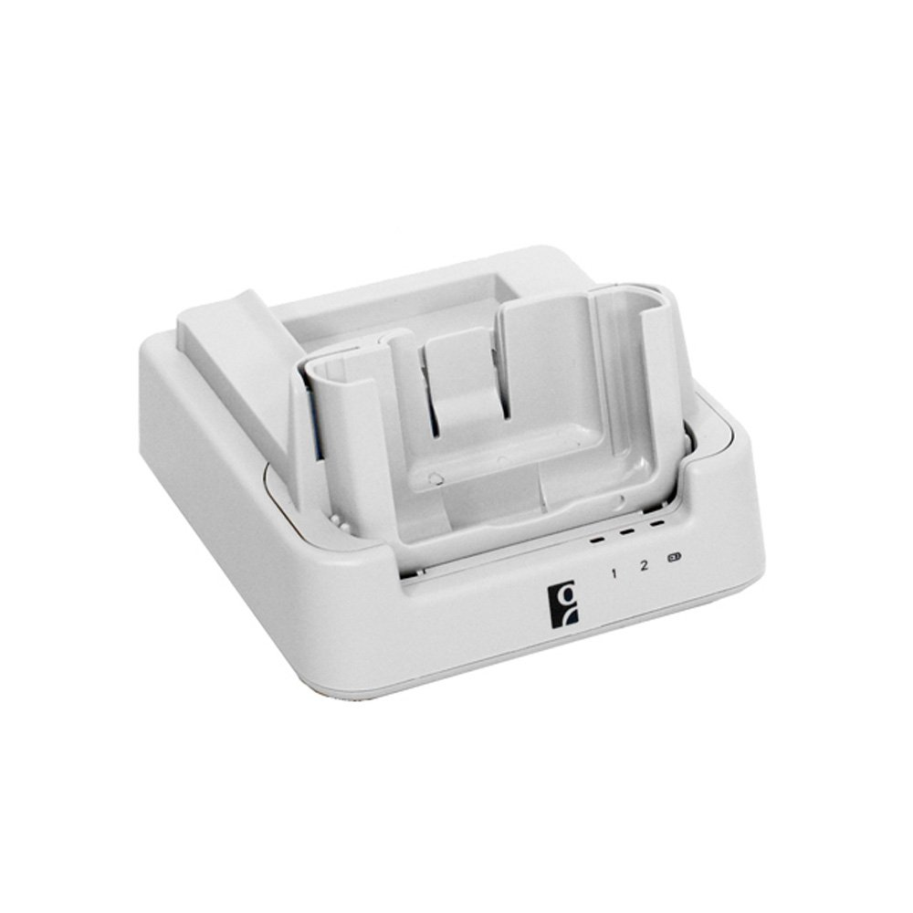 Socket Mobile HC1701-1395 SoMo 655Rx Sync-Charge Cradle Antimicrobial-White with USB Sync Cable and 3A AC Adapter