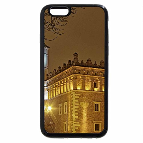 iPhone 6S Case, iPhone 6 Case (Black & White) - castle in poland by an icy lake in winter