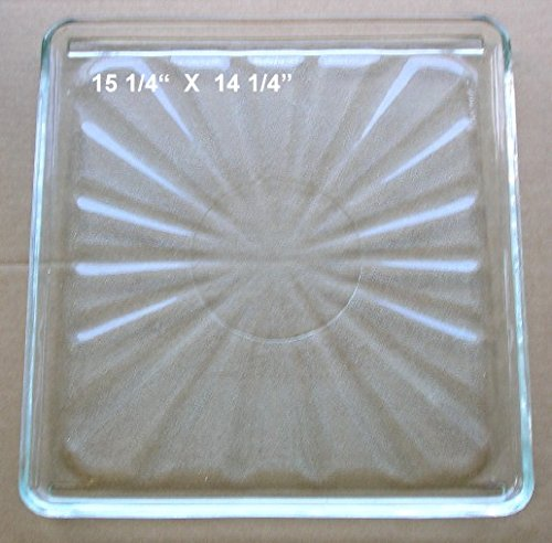 Vintage Pre Owned Microwave Oven Square Glass Tray 15 1/4