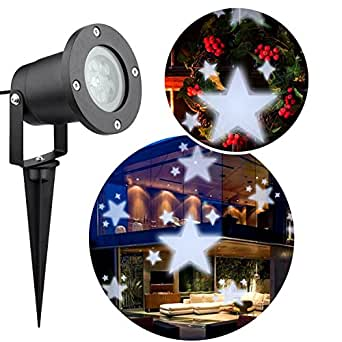 Christmas Projector Light,12 Slides Switchable Patterns Lens Waterproof Moving Rotating Projector Indoor and Outdoor Use Led Projector Light Show for Christmas, Party, Holiday Decoration
