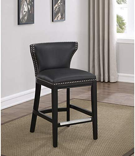 Comfort Pointe Starling Dark Gray Bonded Leather Counter Stool