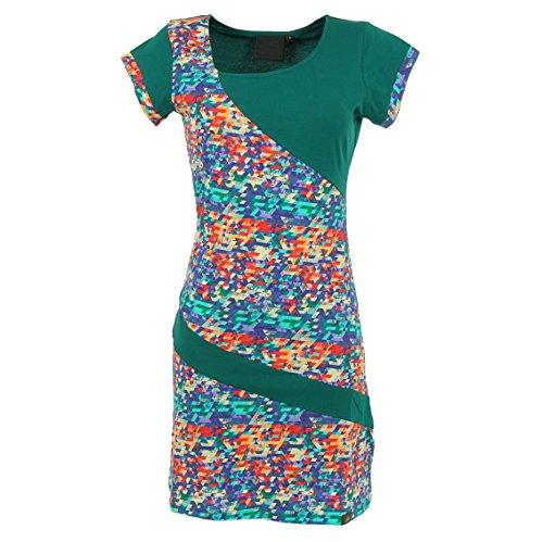 Tunika Baumwolle Kurzarm BIO Organic Style für Damen im Cotton 80s Kleid aus IfzCwIq