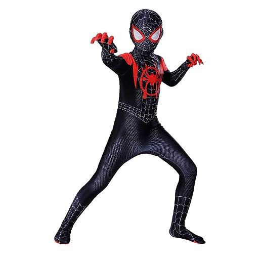 KOUYNHK Lycra Spandex para Niños Traje Negro De Spiderman ...