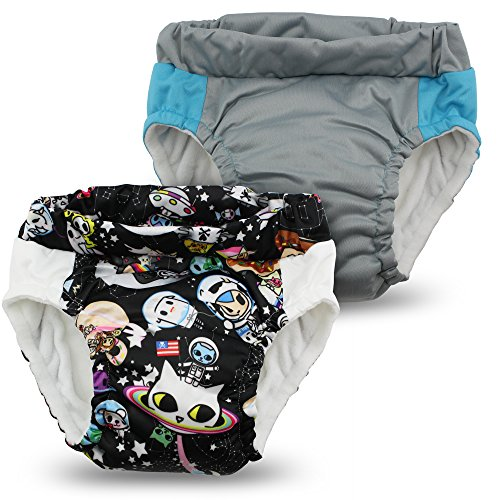 Kanga Care Lil Learnerz Toilet Training Pants, Tokispace & Platinum, Medium