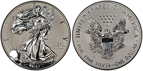 2012-S American Silver Eagle REVERSE PROOF from Mint Set in Capsule