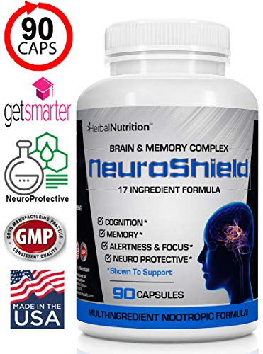 - #1 Rated NeuroShield Brain & Memory Supplement | Multi-Ingredient Formula | Helps Protect The Brain, Prevent Age Related Decline and Improved Cognition & Focus!* One 90 Count Bottle| Free Shipping