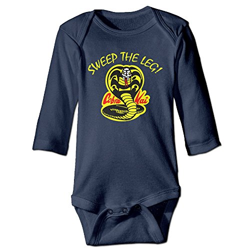 Cobra Kai Outfit (Kids Baby Cobra Kai Sweep The Leg Romper Jumpsuit Navy)