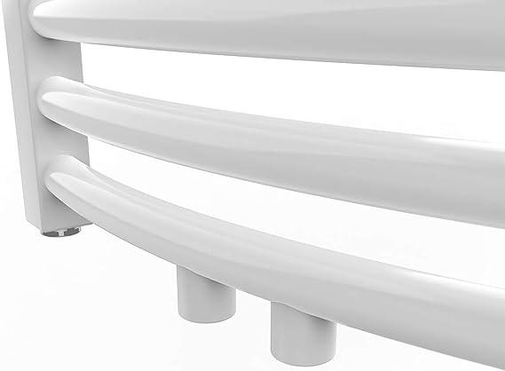 Bath-mann Heizk/örper Badheizk/örper Handtuchhalter f/ür heizung Handtuchtrockner Bad Mittelanschluss Handtuchw/ärmer Horizontal 74x50cm Matt Schwarz