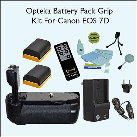 Empuñadura de batería Opteka/disparador Vertical para Canon EOS 7d ...