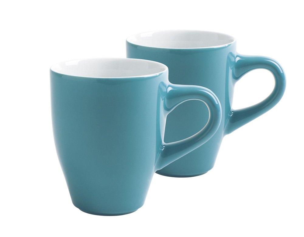 Kahla Café Sommelier 21D252A69119C - Set di 4 tazze, colore: Blu petrolio