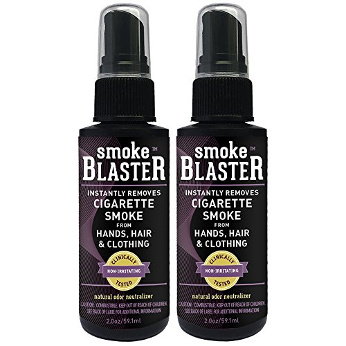(Smoke Blaster Safe & Natural Instant Cigarette Smoke Remover Spray for Hands, Hair & Clothing, 2 Count)