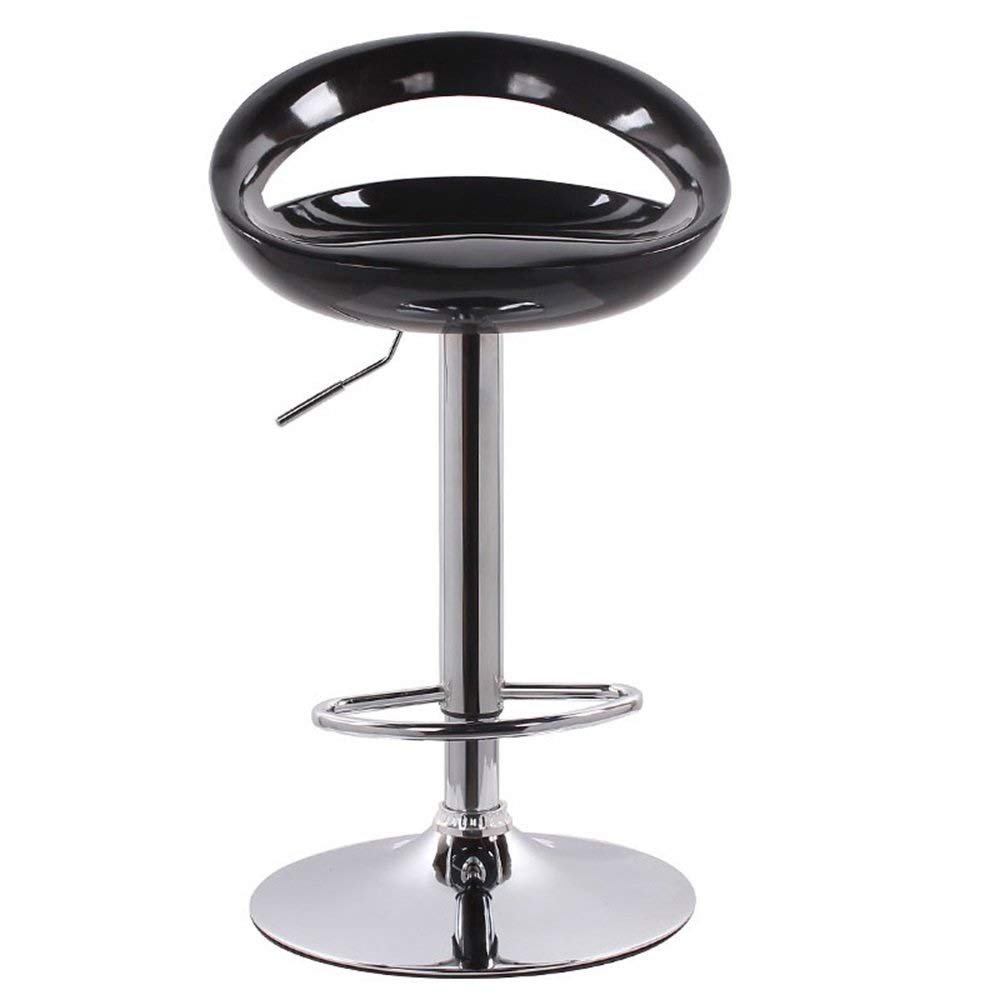 D LYJ Bar Stool with Chrome Frame, 360-degree redating upholstered Chair, Modern bar Stool, Artificial Leather, Adjustable redating Gas Lift (color   D)